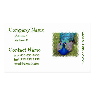 Colorful Peacock Business Cards