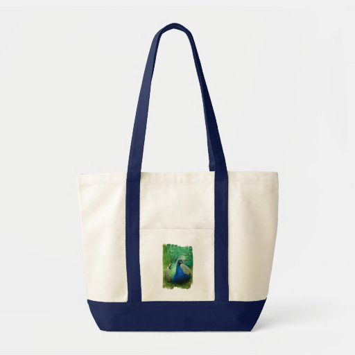 Colorful Peacock Canvas Tote Bag