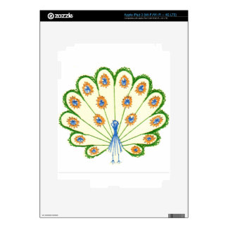 Colorful Peacock Decal For iPad 3