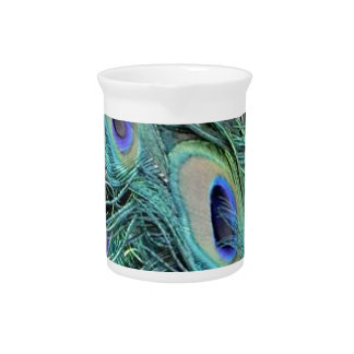 Colorful Peacock Drink Pitcher