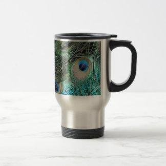 Colorful Peacock Eyes Travel Mug