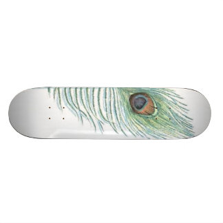 Colorful Peacock Feather Sissy Girly Skateboard