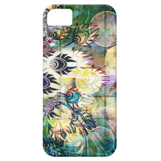 Colorful Peacock Feathers Abstract Pastels Design iPhone SE/5/5s Case