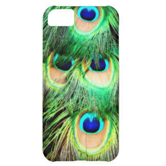 Colorful peacock feathers iPhone 5C cover
