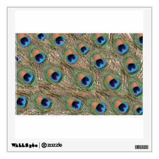Colorful Peacock Feathers Wall Decal