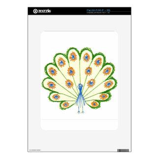 Colorful Peacock iPad Skins