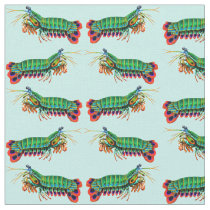 Colorful Peacock Mantis Shrimp Fabric