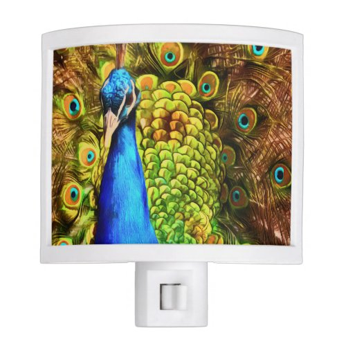 Colorful Peacock Night Light