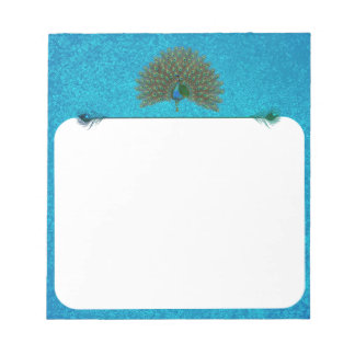 Colorful peacock notepad