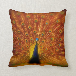 """Colorful Peacock - Throw Pillow 20"""" x 20"""""""