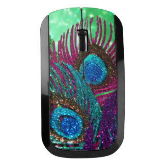 Colorful Peacock Wireless Mouse