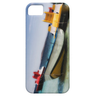 Colorful pedalos and ol boat on the sea iPhone SE/5/5s case