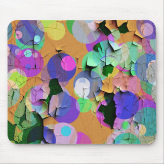 Colorful peeling paint mouse pad
