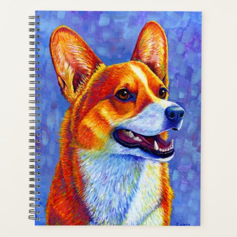 Colorful Pembroke Welsh Corgi Dog Planner