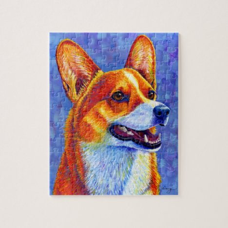 Colorful Pembroke Welsh Corgi Dog Puzzle