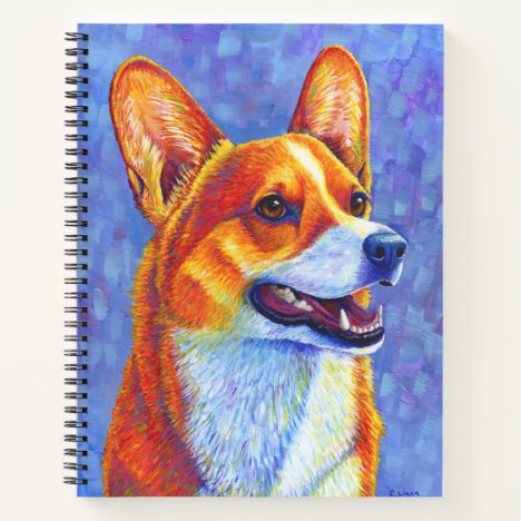 Colorful Pembroke Welsh Corgi Dog Spiral Notebook