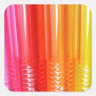 Colorful Pen Square Sticker