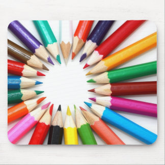 Colorful Pencil Colors Gifts for Art Teachers Mouse Pad