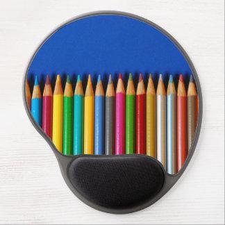 Colorful pencil crayons gel mousepad