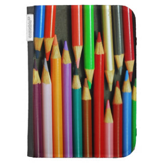 Colorful pencil crayons kindle folio kindle keyboard cases