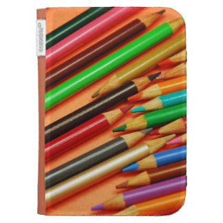 Colorful pencil crayons kindle folio cases for kindle