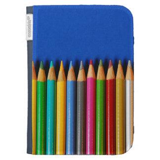 Colorful pencil crayons kindle folio kindle keyboard covers