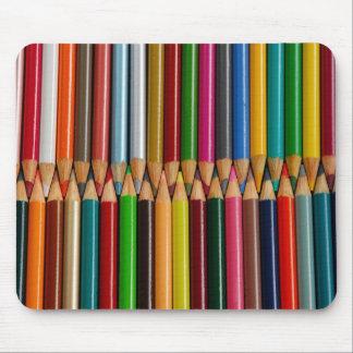 Colorful pencil crayons mousepad