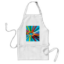 Colorful pencil crayons pattern adult apron