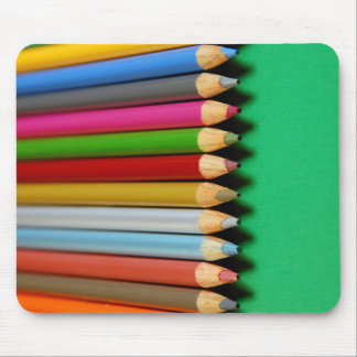 Colorful pencil crayons pattern mouse pad