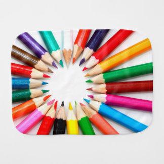 Colorful Pencils Burp Cloth