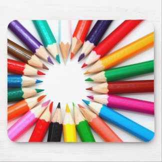 Colorful Pencils Mouse Pad