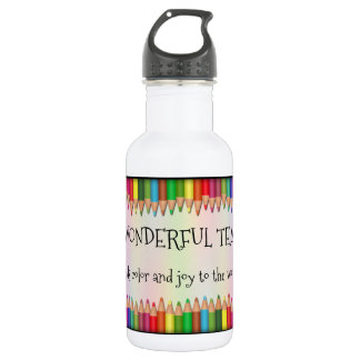 Colorful Pencils Teacher Appreciation Water Bottle