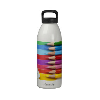 Colorful pencils drinking bottle