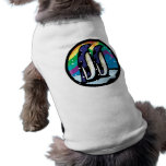 colorful penguin circle design doggie shirt