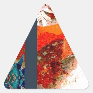 colorful Penguin Design Triangle Sticker