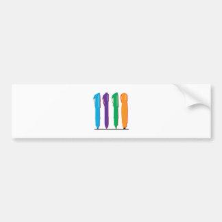 Colorful Pens Bumper Sticker