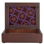 Colorful Pentagram Pagan Wicca Trinket Box Memory Boxes