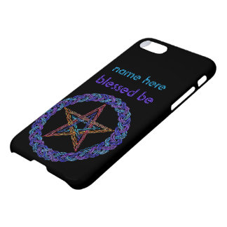 Colorful Pentagram Wicca Star iphone7 Add A Name iPhone 8/7 Case