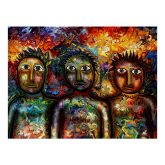 Colorful People Poster