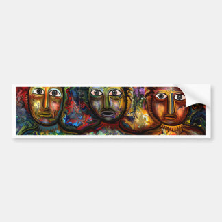 Colorful PeopleColorful People by rafi talby Bumper Sticker