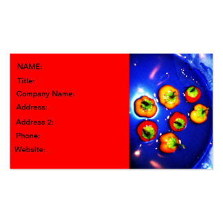 Colorful Peppers Business Card