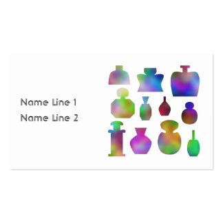 Colorful Perfume Bottles. Business Card
