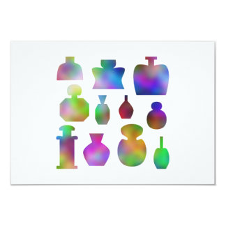 Colorful Perfume Bottles. Card