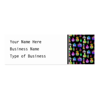 Colorful Perfume Bottles Pattern. Business Card Template