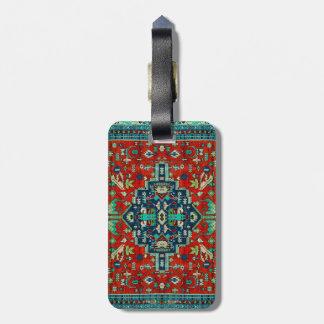 Colorful Persian Rug Motive Luggage Tag