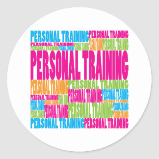 Colorful Personal Training Classic Round Sticker