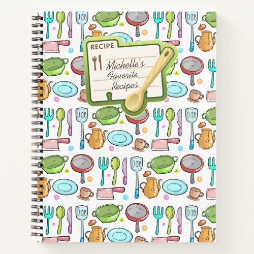 Colorful Personalised Recipe Book