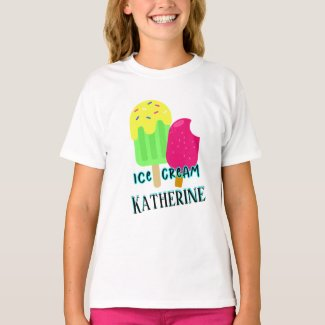 Colorful Personalized Ice Cream Bars Summer T-Shirt