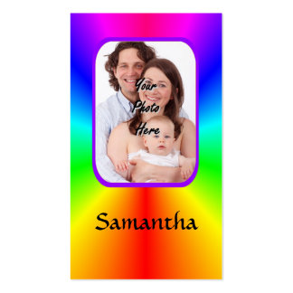 Colorful personalized photo background business card