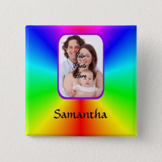 Colorful personalized photo background button
